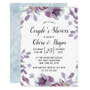 Blooming Amethyst Floral Couple's Wedding Shower Invitation starting at 2.40