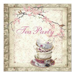Blossom Country Bridal Shower Tea Party Invitation starting at 2.67