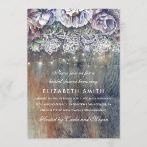 Blue and Maroon Rustic Floral Bridal Shower Invitation starting at 2.40