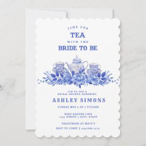 Blue and White Floral Bridal Shower | Tea Party starting at 2.91
