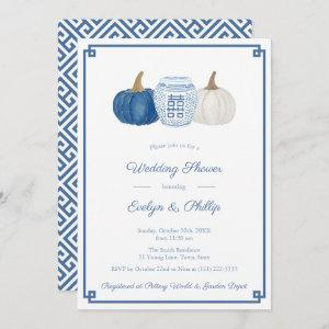 Blue And White Pumpkins Classic Bridal Shower Invitation starting at 2.66