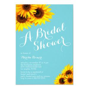 Blue and Yellow Sunflowers Bridal Shower Invitation starting at 2.40