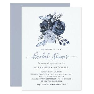 Blue Bouquet | Watercolor Floral Bridal Shower Invitation starting at 2.66