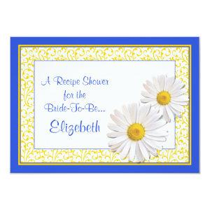 Blue Daisy Recipe Theme Bridal Shower Invitation starting at 2.31