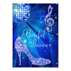 Blue Disco Ball and Sparkle Heels Bridal Shower Invitation starting at 2.77