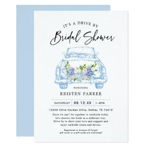Blue Floral Drive By Bridal Shower Invitation starting at 2.61