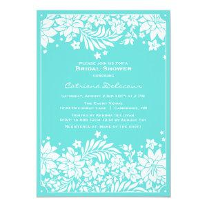 Blue Floral Pattern Bridal Shower Invitation starting at 2.51