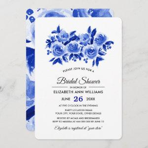 Blue Floral Watercolor Bridal Shower Invitations starting at 2.71