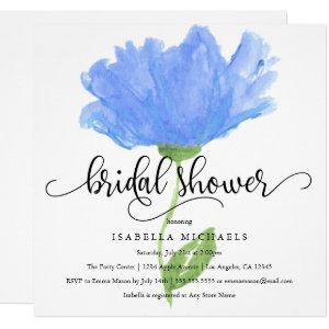 Blue Floral Watercolor | Bridal Shower Invite starting at 2.40