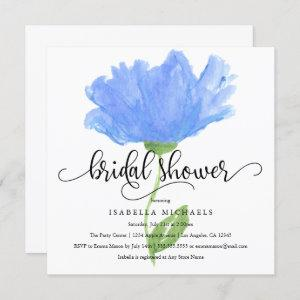 Blue Floral Watercolor   Bridal Shower Invite starting at 2.40