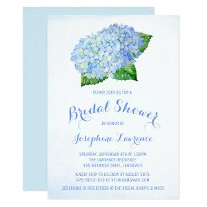 Blue Hydrangea Floral Bridal Shower Invitations starting at 2.51