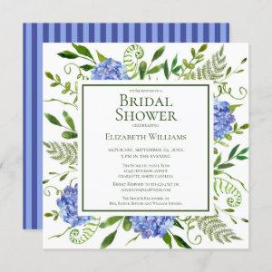 Blue Hydrangeas Floral Watercolor Bridal Shower Invitation starting at 2.35