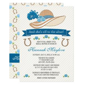 Blue Kentucky Derby Themed Hat Bridal Shower Invitation starting at 2.82