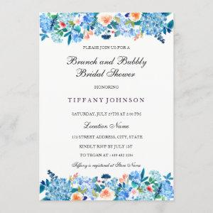 Blue Peach Peonies Brunch & Bubbly Invitation starting at 2.55