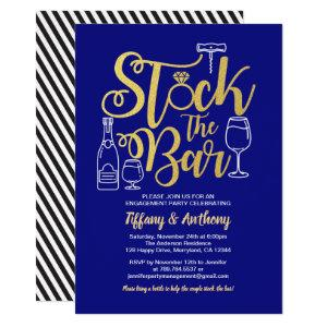 Blue Stock the bar invitation engagement party starting at 2.40