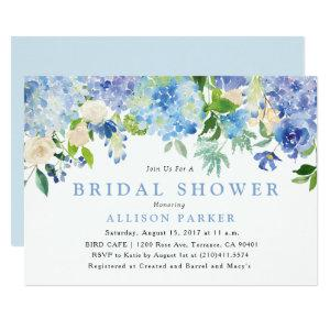 Blue Watercolor Flowers Bridal Shower Invitation starting at 2.61