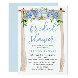 Blue Watercolor Hydrangea Arch Floral Bridal Invitation starting at 2.61