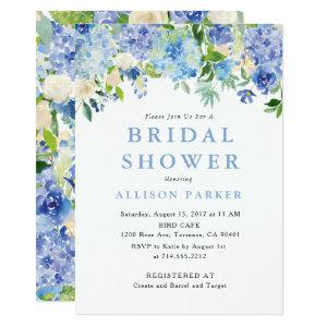 Blue Watercolor hydrangea Bridal Shower Invitation starting at 2.61