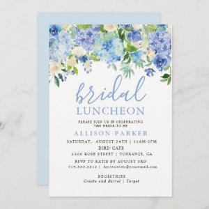 Blue Watercolor Hydrangea Floral Bridal Luncheon Invitation starting at 2.61