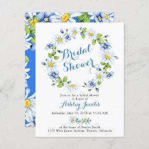 Blue White Daisy Floral Bridal Shower Invitation starting at 2.10