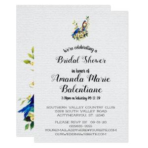 Bluebird Of Happiness Vintage Bridal Shower Invite starting at 2.66