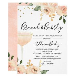Blush Brunch Champagne Bridal Shower Invitation starting at 2.05