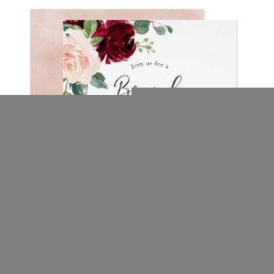 Blush Floral Bridal Shower Brunch & Bubbly Invitation starting at 2.40