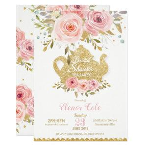 Blush Floral Bridal Shower Tea Party Invitation starting at 2.20