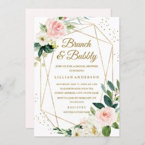 Blush Gold Floral Brunch And Bubbly Bridal Shower Invitation starting at 2.40