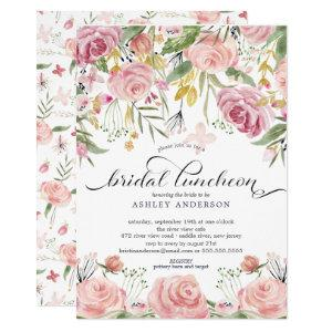 Blush Pink Floral Bridal Luncheon Invitation starting at 2.15