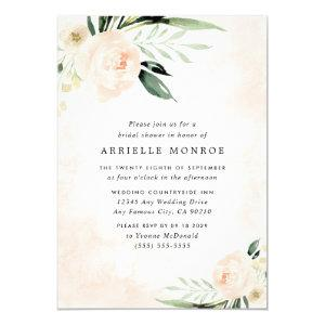 Blush Pink Floral Elegant Garden Bridal Shower Invitation starting at 2.25