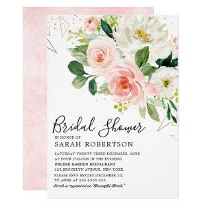 Blush Pink Florals Modern Botanical Bridal Shower Invitation starting at 2.40