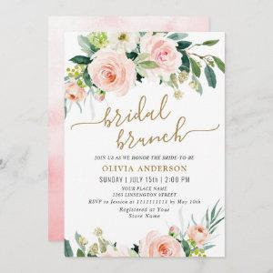 Blush Pink Flowers Watercolor Bridal Brunch Invitation starting at 2.45