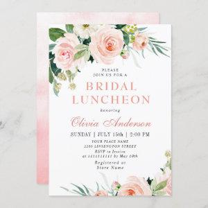 Blush Pink Flowers Watercolor Bridal Luncheon Invitation starting at 2.35