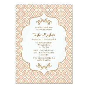 Blush Pink Gold Moroccan Bridal Shower Invites starting at 2.66