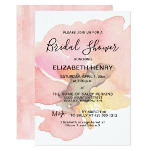 Blush Pink Peach Coral Floral Bridal Shower Invitation starting at 2.51