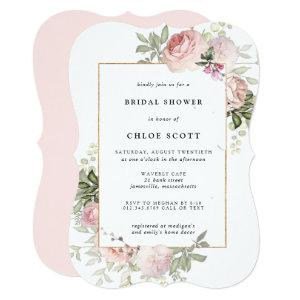 Blush Pink Rose Floral Bridal Shower Invitation starting at 2.76