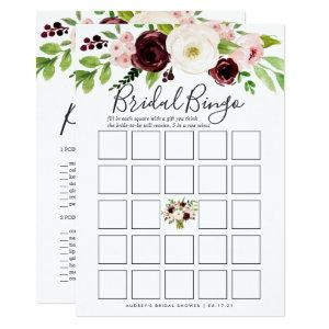 Blush Romance Double-Sided Bridal Shower Game Invitation starting at 2.26