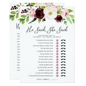 Blush Romance Double-Sided Bridal Shower Game Invitation starting at 2.51