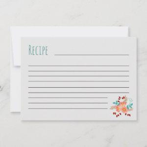 Blush & Teal Bouquet Recipe Card starting at 2.25