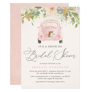 Blush Watercolor Floral Drive By Bridal Shower Invitation starting at 2.45