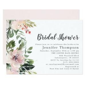 Blush Watercolor Floral & Greenery Bridal Shower Invitation starting at 2.66