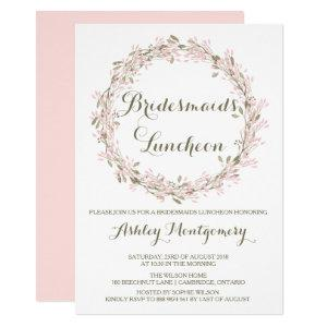 Blush Winter Wreath Bridesmaids Luncheon Invite starting at 2.15