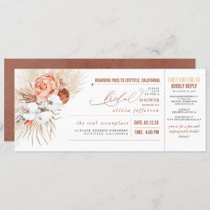 Boarding Pass Tropical Floral Bridal Shower Ticket starting at 2.40