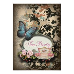 Bohemian Botanical butterfly Paris bridal shower Invitation starting at 2.77