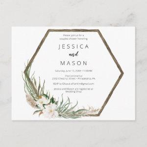 Bohemian Wreath Couples Shower Invasion Postcard starting at 1.15