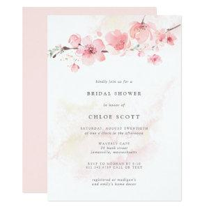 Boho Blush Pink Floral Bridal Shower Invitation starting at 2.21