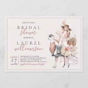 Boho Bride and Formal Llama Bridal Shower Invitation starting at 2.40