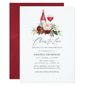 Boho Burgundy Floral Wine Tasting Bridal Shower Invitation starting at 2.66