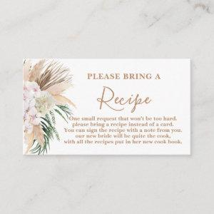 Boho Chic Bridal Shower Recipe Card Request starting at 0.25